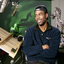 Chris Rock in sala doppiaggio per Madagascar