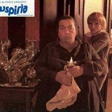 Franca Scagnetti e Jacopo Mariani in una lobbycard promozionale per Suspiria