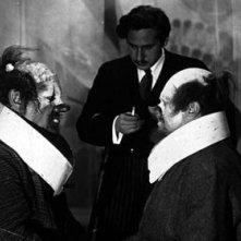 Emil Jannings e Josef Von Sternberg sul set de L'angelo azzurro