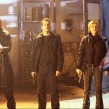 LL Cool J, Christian Slater e Kathryn Morris in una scena del film Nella mente del serial killer