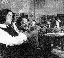 Peter Jackson dirige Melanie Lynskey sul set di Creature del cielo