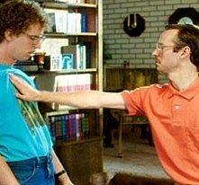 Jon Heder ed Aaron Ruell in una scen di Napoleon Dynamite