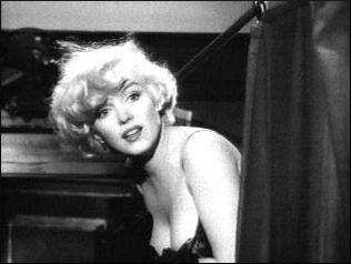 Marilyn Monroe in A qualcuno piace caldo, nel '59