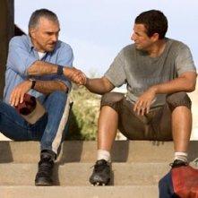 Burt Reynolds e Adam Sandler in L'altra sporca ultima meta