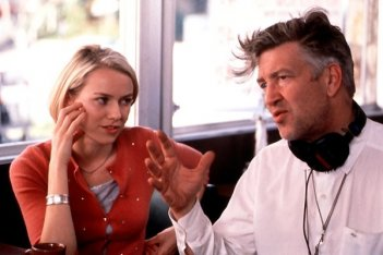 David Lynch e Naomi Watts sul set di Mulholland Drive