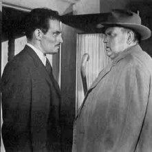 Charlton Heston e Orson Welles in una scena de L'INFERNALE QUINLAN