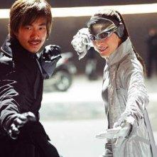 Richie Ren e Michelle Yeoh in una scena di Silver Hawk