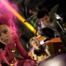 Taylor Dooley, Cayden Boyd e Taylor Lautner in The Adventures of Shark Boy & Lava Girl in 3-D