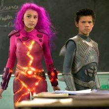 Taylor Dooley con Taylor Lautner in The Adventures of Shark Boy & Lava Girl in 3-D
