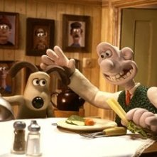 Una scena del cartoon Wallace & Gromit: The Curse of the Were-Rabbit