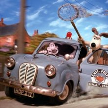 Una scena del divertente Wallace & Gromit: The Curse of the Were-Rabbit