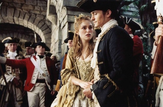 Orlando Bloom e Keira Knightley in Pirates of the Caribbean: Dead Man's Chest