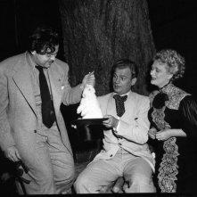 Orson Welles e Dolores Costello scherzano sul set de L'orgoglio degli Amberson
