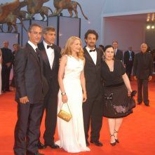 David Strathairn, George Clooney, Patricia Clarkson, Grant Heslov e Alex Borstein a Venezia per presentare Good Night, and Good Luck