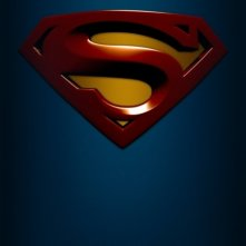 La locandina di Superman Returns con il logo del supereroe