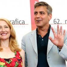 Patricia Clarkson e George Clooney a Venezia per Good Night, and Good Luck