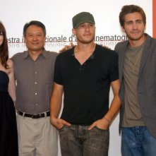 Anne Hathaway, Ang Lee, Heath Ledger e Jake Gyllenhaal e a Venezia per Brokeback Mountain