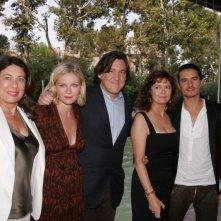 Paula Wagner, Kirsten Dunst, Cameron Crowe, Susan Sarandon e Orlando Bloom a Venezia per il film Elizabethtown