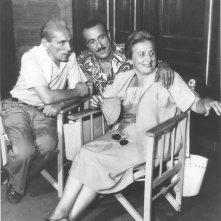 Una bella foto di Titina, Eduardo e Peppino De Filippo