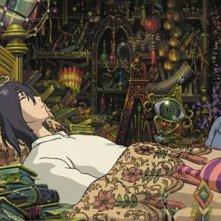 una scena del film Il castello errante di Howl, diretrto dal maestro Hayao Miyazaki.