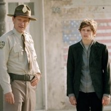 Bill Paxton e Jamie Bell in una scena di Dear Wendy