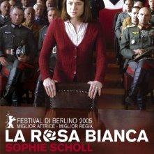 La locandina italiana di La rosa bianca - Sophie Scholl