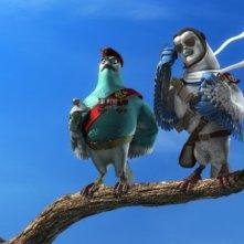Una scena del film d'animazione Valiant