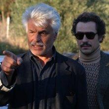 Michele Placido e Stefano Accorsi sul set di Romanzo Criminale