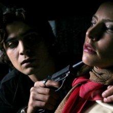 Riccardo Scamarcio in una sequenza di Romanzo Criminale
