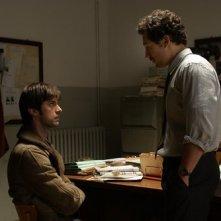 Stefano Accorsi e Kim Rossi Stuart in una scena di Romanzo Criminale