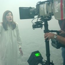 Jennifer Carpenter sul set di The Exorcism of Emily Rose