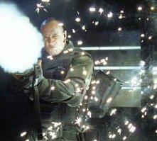 Dwayne Johnson in una scena di Doom