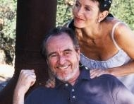 Courteney Cox e Wes Craven sul set di Scream