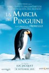 La locandina italiana di La marcia dei pinguini