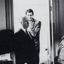 Tony Perkins e Alfred Hitchcock sul set di Psycho