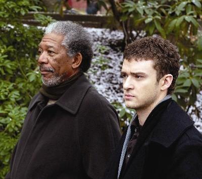 Morgan Freeman E Justin Timberlake In Edison City 20094