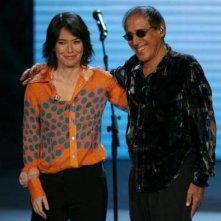 Sabina Guzzanti e Adriano Celentano durante una puntata di RockPolitik