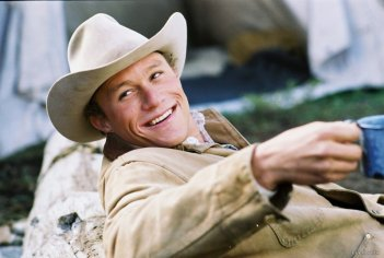 Heath Ledger è Ennis Del Mar in Brockeback Mountain
