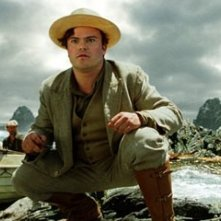 Jack Black in una scena di King Kong, diretto da Peter Jackson
