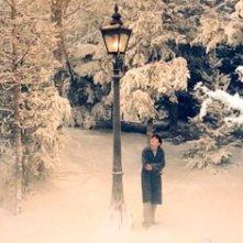 Skandar Keynes in una sequenza del primo film del franchise Le cronache di Narnia