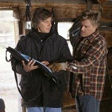 Lasse Hallstrom e Robert Redford sul set de Il vento del perdono