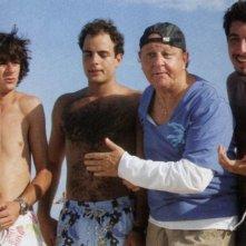 Francesco Mandelli, Giuseppe Sanfelice, Massimo Boldi e Paolo Ruffini in una scena di Natale a Miami