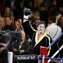 Sylvester Stallone sul set del suo film 'Rocky Balboa'