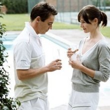 Jonathan Rhys-Meyers e Emily Mortimer in Match Point