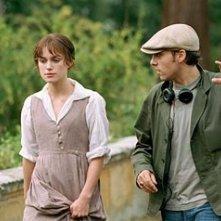 Keira Knightley e Joe Wright in Orgoglio e Pregiudizio