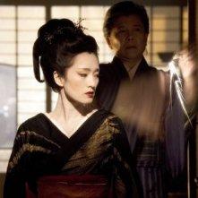 Gong Li in una sequenza di Memorie di una Geisha