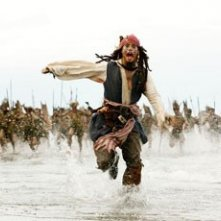 Johnny Depp nel film Pirates of the Caribbean: Dead Man's Chest