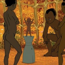 una sequenza del film d'animazione Kirikù e gli animali selvaggi