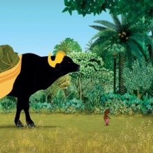 Kirikù e gli animali selvaggi: una scena del film d'animazione