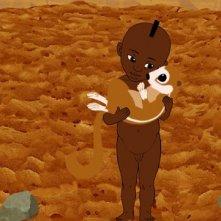 una scena del cartoon Kirikù e gli animali selvaggi